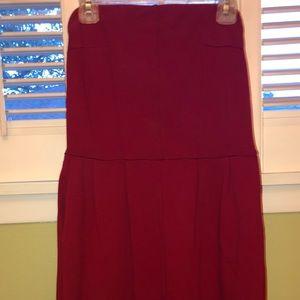 Express- Strapless red dress